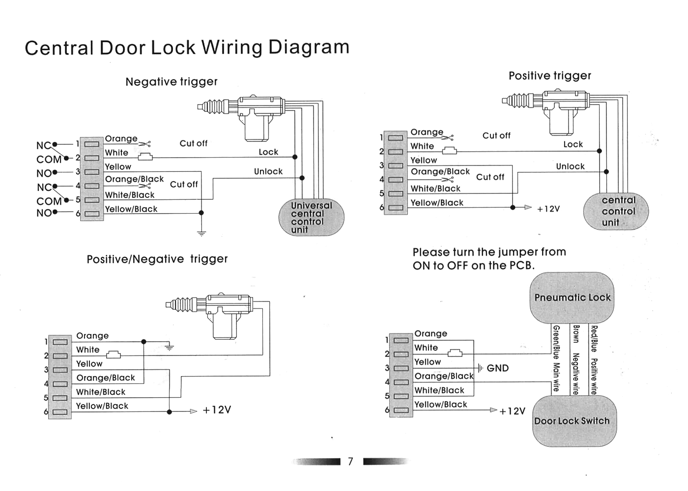 Central Locking how to install remote keyless entry system? page 2 www neons org remote door lock wiring diagram at cos-gaming.co